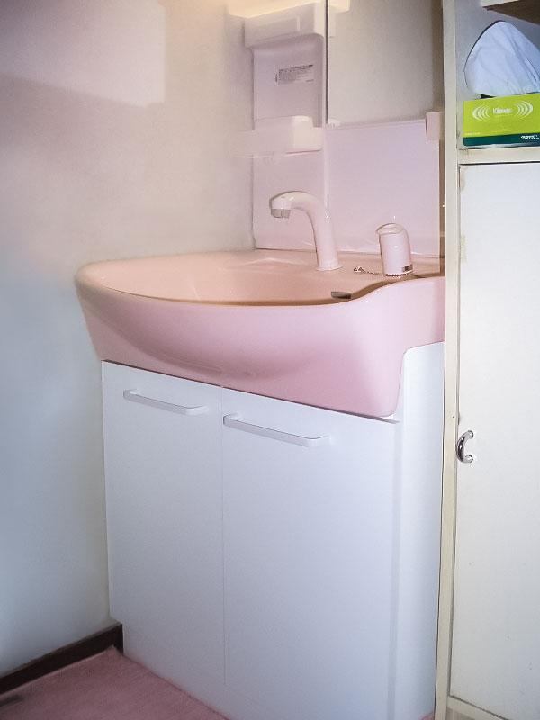 工事後の洗面台